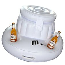Inflatable Ice & Cup Holder in White