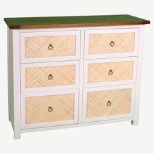 Havana 6 Drawer Chest in Off-White