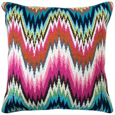 Jonathan Adler Bargello Throw Pillow in Pink & Blue