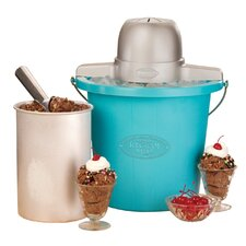 Plastic Bucket Ice Cream Maker in Aqua