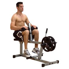 Powerline Seated Calf Raise Machine in Grey