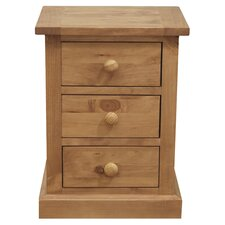 Devon 3 Drawer Bedside Table in Pine
