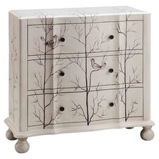 Beatrice 3 Drawer Chest in Ivory