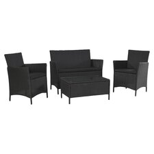 Jamaica 4 Piece Seating Group in Black