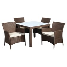Amazonia Vincent 7 Piece Dining Set in Brown