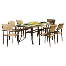 Maracay 7 Piece Dining Set in Antique Grey