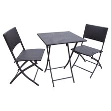 Penthus 3 Piece Bistro Set in Brown