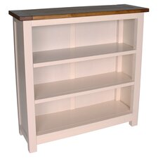 Aintree Short Bookcase in Off White & Pine