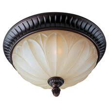 Bow 2 Light Flush Mount in Bronze