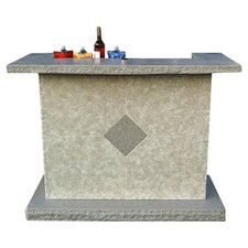 Lanai Galley Home Bar in Grey