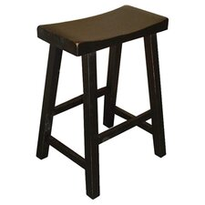 "24"" Counter Stool in Distressed Black"