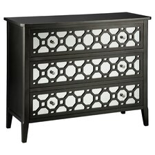 Cosmopolitan Accent 3 Drawer Chest in Black