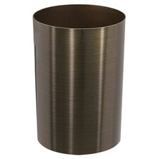 Metalla Trash Can in Bronze & Black