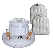 3 Piece Inflatable Pool Party Set in White