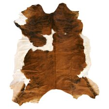 Duke Cowhide Brown & White 7' x 7' Rug