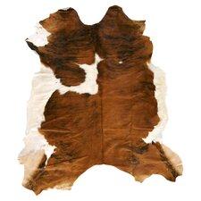 Duke Cowhide Brown & White 7' x 7' Rug