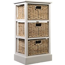 3 Drawer Storage Unit in Beige