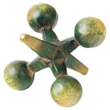 Metal Paperweight Jack in Green