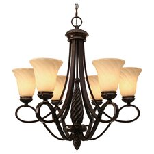 Bellino 6 Light Chandelier in Bronze