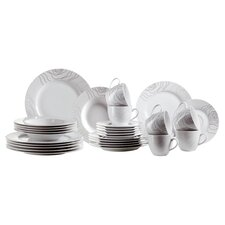 Elisso 30 Piece Dinnerware Set in White