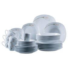 Calla 30 Piece Dinnerware Set in Uni White