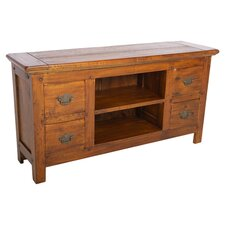 East Indies TV Stand in Warm Brown