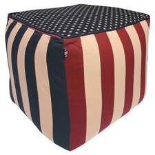Vintage Glory Pouffe in Red & Blue