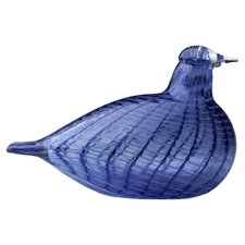 iittala Oiva Toikka Bird Figurine in Blue