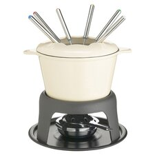 7 Piece Fondue Set in Cream