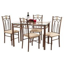 Flagship 5 Piece Dinette Set in Bronze