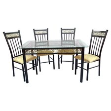 Pyramid 5 Piece Dinette Set in Bronze