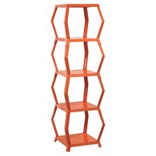 Soft Modern Tower Etagere in Orange