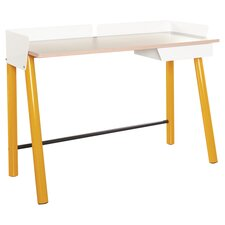 Soft Modern Writing Desk in Saffron Yellow & White