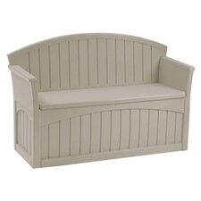 Suncast Nebo Deck Storage Bench in Taupe