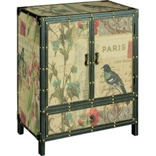 Paris Butterfly French Cabinet in Black