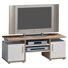 Amanda TV Stand in White & Sonoma Oak