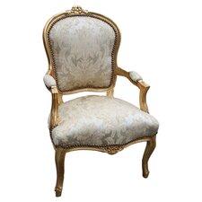 Louis Arm Chair in Cream & Gold