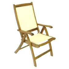 Henley Reclining Folding Arm Chair in Cream