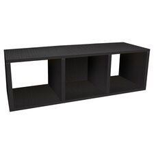 Eco Storage Cube Bench in Black