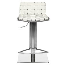 Liam Adjustable Barstool in White