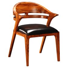 Salerno Side Chair in Mahogany & Black