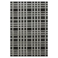 "York Check Charcoal & Black 5'3"" x 7'7"" Rug II"