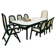 Toscana Ravenna Rectangular Extending Dining Table in Green