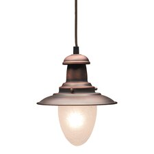 Railroad 1 Light Mini Pendant in Antique Copper