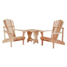 3 Piece Adirondack Seating Group in Natural