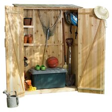 Hardwood Doweling Storage Shed in Natural