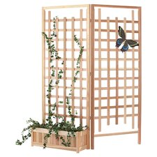 3 Piece Planter & Trellis Screen Set in Natural