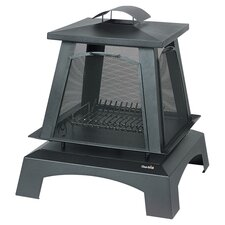 Trentino Pagoda Fireplace in Black