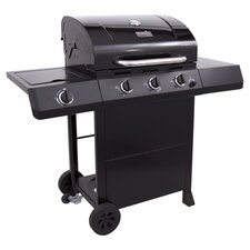 Classic 3 Burner Gas Grill in Black