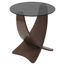 Criss Cross End Table in Smoked
